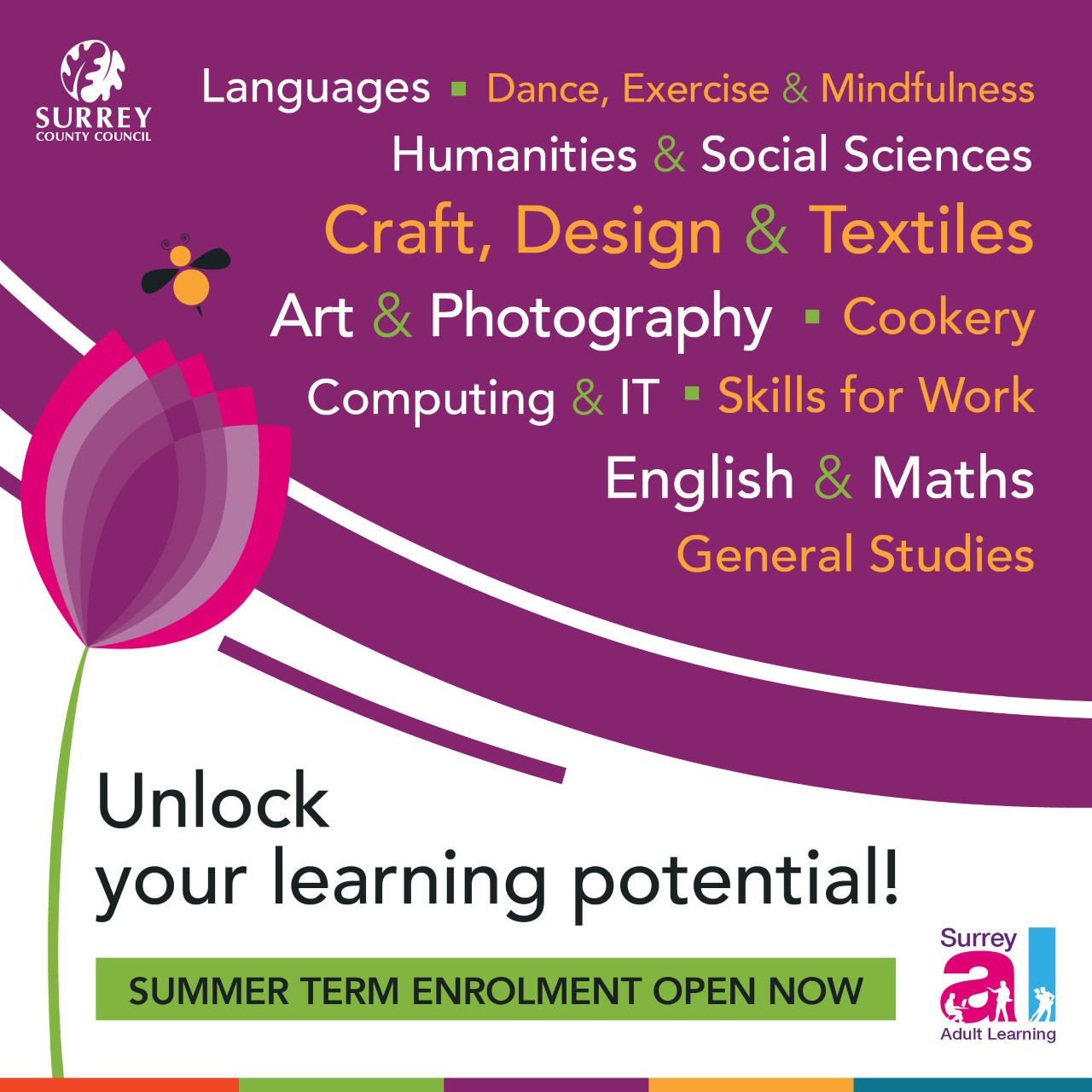Surrey adult learning summer