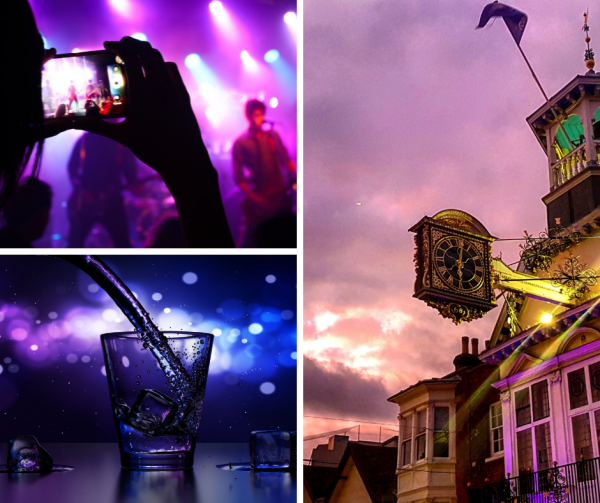 Purple Flag collage
